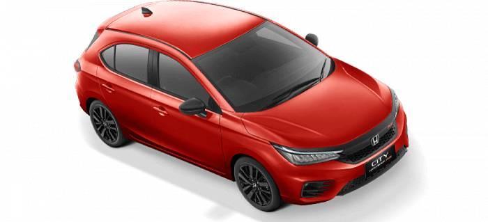 city hatchback rallye red
